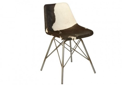 Industrial Cow Hide moulded seat chair