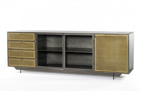 Hendrick Media Console Metal