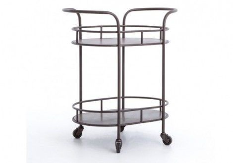 Teague Oval Bar Cart Four Hands