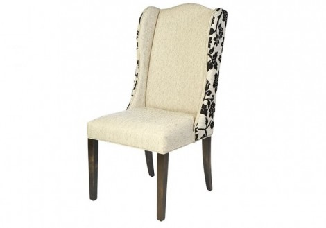 Brece Fabric Wing Dining Chair