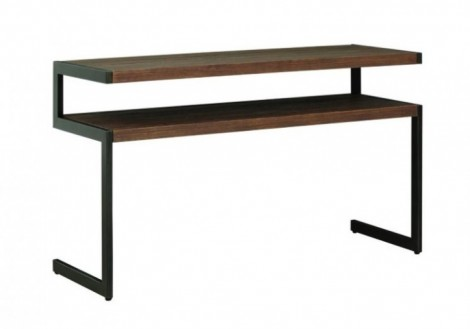 Revelstoke sofa table solid wood/metal