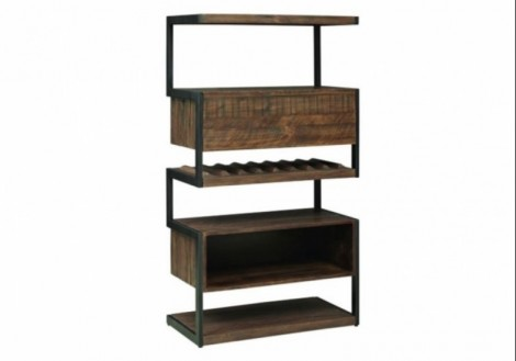 Revelstoke Storage Cabinet Solid Wood/Metal