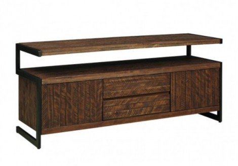Revelstoke TV Console Solid Wood/Metal