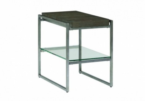 Thiago Chair Side Table - Wood & Glass