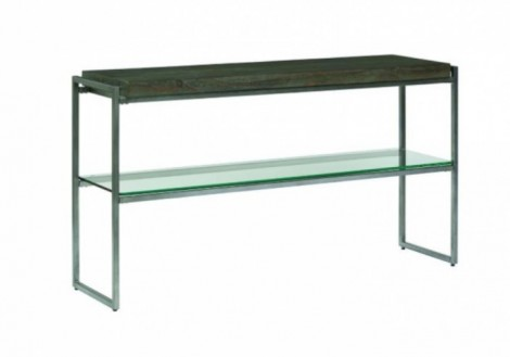 Thiago Console Table - Wood & Glass