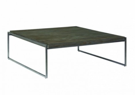 Thiago Square Coffee Table - Wood & Metal