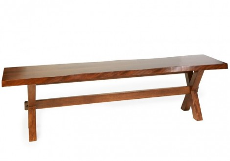 Bertanie Solid Birch Live Edge Bench