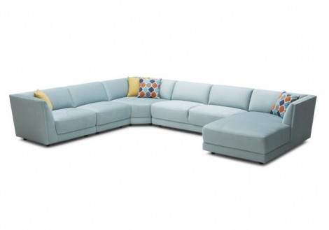 Shay Modular 5 Piece Fabric Sectional