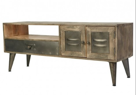 Toronto Media Console TV Solid Wood