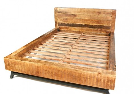 Retro King Bed Solid Mango Wood