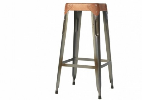 Industrial square Metal bar stool