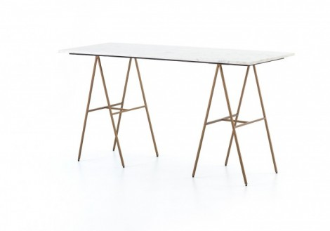 Eden Desk Marble & Brass Four Hands