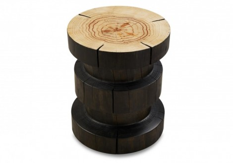 Inez Solid Wood End Table