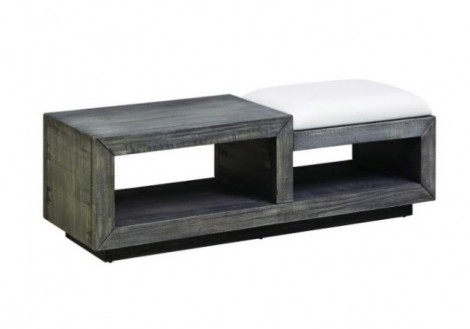 Muse Bench/Coffee Table and Ottoman