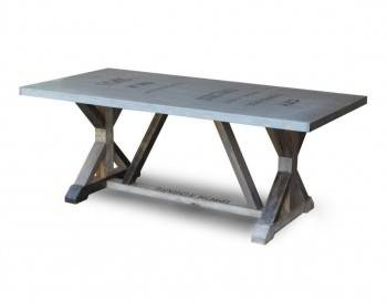 BraunShugar Dining Table - Metal Top