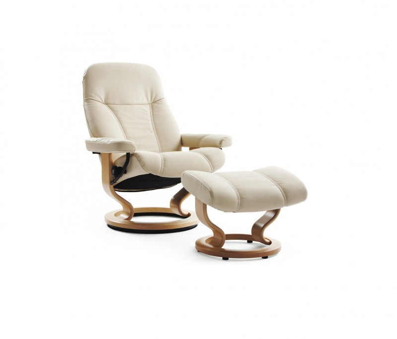 Consul Small Leather Recliner - Ekornes Stressless