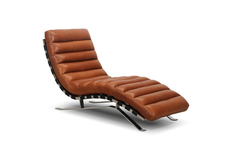 Aiden Leather Chaise