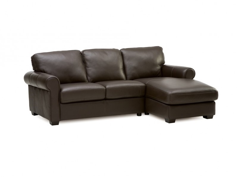 Vigo Leather Chaise Sectional Sofa