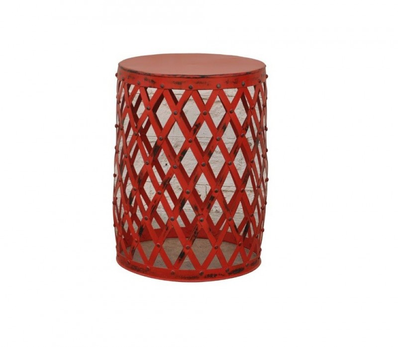 Design Woven Patti Metal Side Table