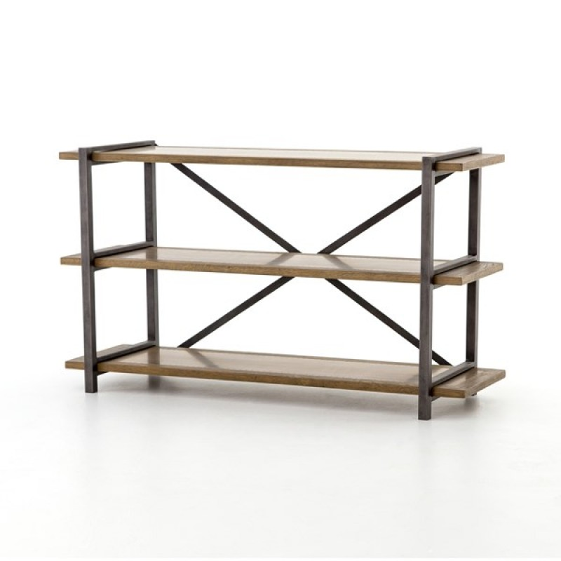 Shane Console table Four Hands Wood Iron