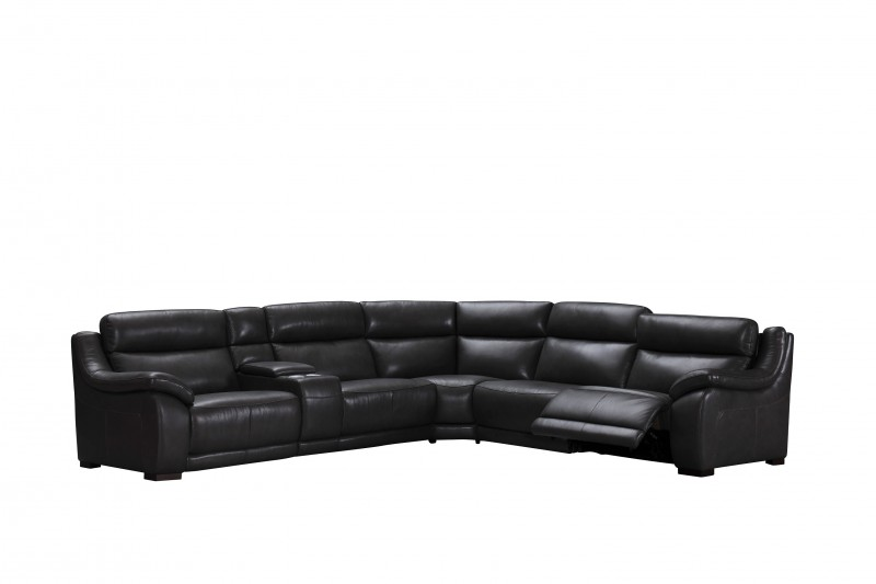 Declan Sectional ALL Leather & Power