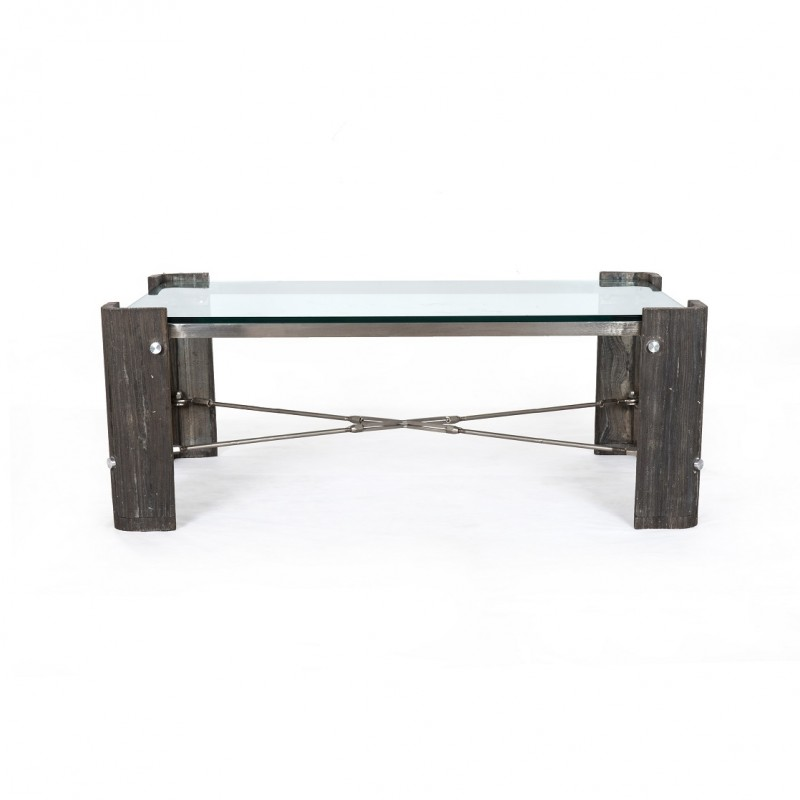 Frankie Coffee table w/ glass Four Hands
