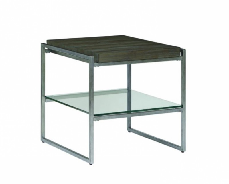 Thiago End Table - wood & Glass
