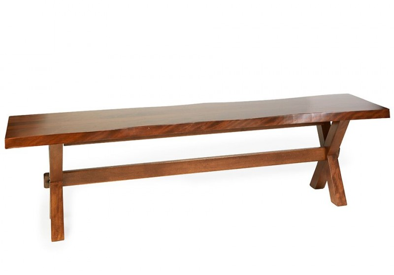 Bertanie Bermex Bdm Live Edge Solid Birch Wood Bench