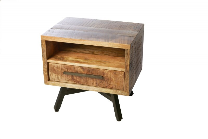 Retro Side Table/Night Stand Solid Wood