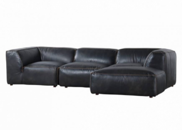Luxe Leather Sectional Sofa