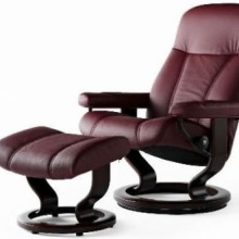 Consul Medium Leather Recliner - Ekornes Stressless
