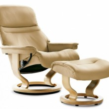 Sunrise Large Leather Recliner - Ekornes Stressless
