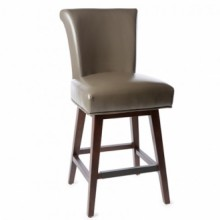 Crystal Swivel Counter Stool Bonded Leather