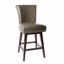 Crystal Swivel Bar Stool Bonded Leather