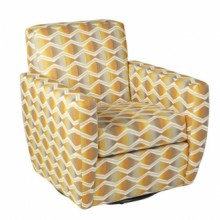 Vancouver Swivel Fabric Chair Jonathan Louis