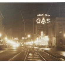 Jasper Ave at Night - 1934