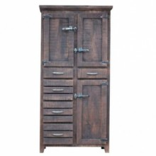 Icebox Solid Wood Storage Cabinet