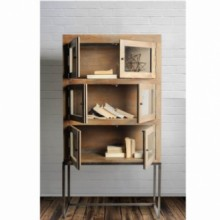 Coulter Wood bookcase storage cabinet