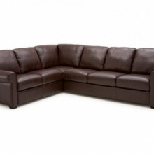 Vigo Leather Sectional Sofa