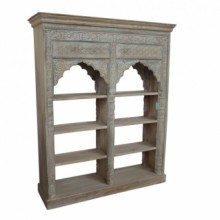 Double SFK Solid Wood Book Case