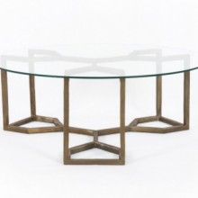 Naomi Glass Coffee Table Four Hands