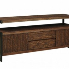 "Revelstoke TV 60"" Console Solid Wood/Metal"