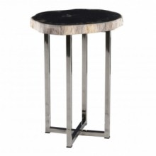 Damien End Table - Petrified Wood